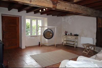Vue: salon, Maison de moyenne montagne proche de Foix, pleine de charme