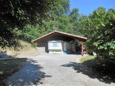 L�ran, dans un parc de verdure , terrain avec mobilhomme � vendre., Agence Immobilière UnChezVous, dans les départements de l'Ariège et de l'Aude