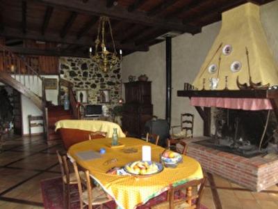 Vue: chemin�e salon s�jour, Maison Saint Girons, proche centre ville