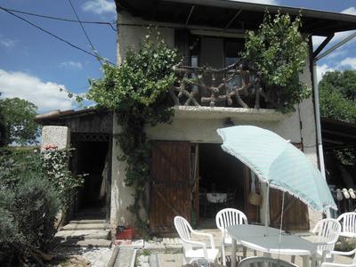 Vue: maison de face , MAISON DE CAMPAGNE LASSERRE