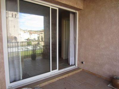 Vue: baies vitr�es sur la terrasse, Saint-Girons, Appartement  3 pi�ce(s)