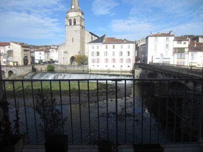 Vue: vue du Salat de la terrasse, Saint-Girons, Appartement  3 pi�ce(s)