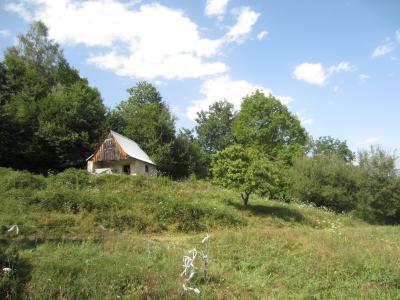 Vue: vue grange terrain acc�s, Grange � r�nover Sentenac D