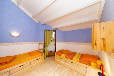 Vue: chambre 1er �tage, Chalet  de Montagne � Erc�