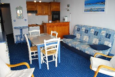 APPARTEMENT FACE MER 1 CHAMBRE MERLIMONT PLAGE