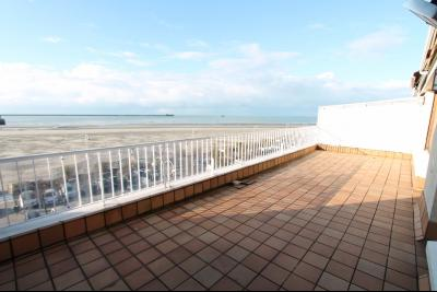 Vente Boulogne sur Mer FACE MER Appartement 2 chambres, grande terrasse, place de parking