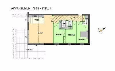 Location ST MARTIN BOULOGNE, Appartement 100 m² - 4 pièces