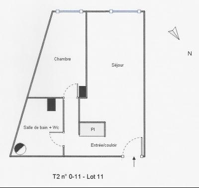 TALENCE T2-42m2 LOUE DANS R�SIDENCE 2 �TAGES DE 1991