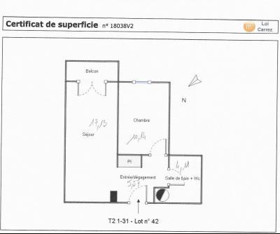 TALENCE T2-37m2 LOUE + BALCON AU 1ER SUR 2
