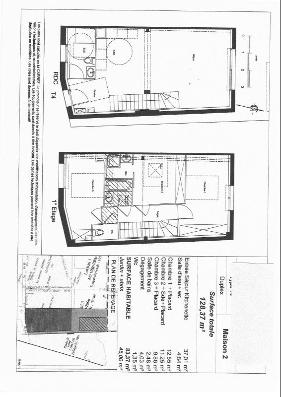 EYSINES HIPPODROME MAISON A ETAGE T4 83m2+JARDIN 45m2 - PINEL Ancien