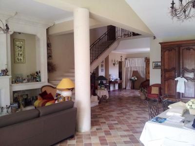 Vue: Propriété à Saint Rémy de Provence salon salle à manger, Un mas provençal à vendre sur un parc de 3 hectares et demi à Saint Rémy de Provence