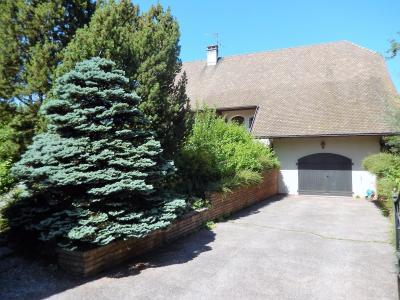 Vue: Maison Reignier Esery Façade côté entrée, Maison de maître individuelle à vendre au centre d