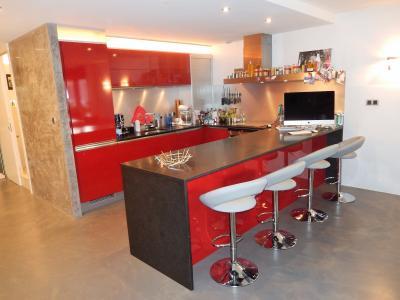 Vue: Appartement T3 Annemasse Cuisine, Grand appartement neuf et contemporain à vendre au centre ville d