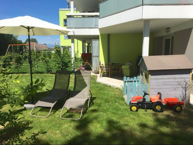 T4 rez de jardin avec 2 terrasses et jardin privatif au label BBC à vendre à Annemasse