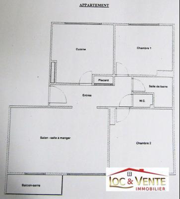 Vue: Garage de 17m², Vente TALANGE, Appartements 72 m� - 2 chambres