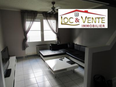Vue: séjour : 13.40m², Vente FAMECK, Appartement en rez de jardin - 2 chambres + jardin