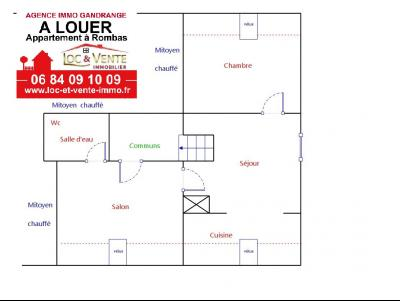 Location ROMBAS, Appartements 62 m� - 3 pi�ces