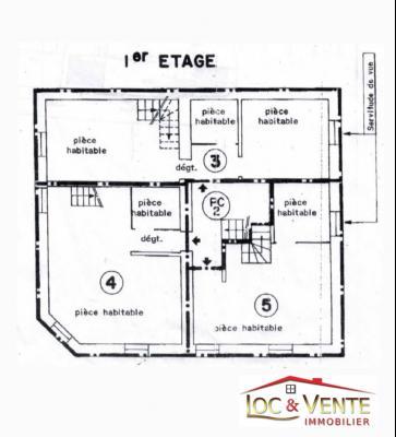Vue: Chambre 2, Appartement Duplex de 48,52m� avec parking (Malancourt)