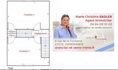 Vue: Croquis étage 1 - maison à vendre à Bouligny 55240, Maison BOULIGNY de 3 pi�ce(s) sur 89 m� env.
