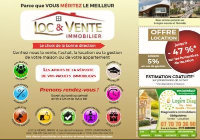 Vue: Agence immobilière LOC ET VENTE IMMO, Maison BOULIGNY de 3 pi�ce(s) sur 89 m� env.