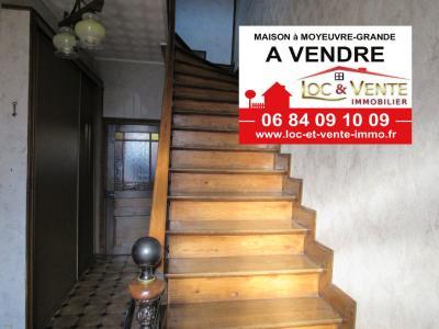 Vente MOYEUVRE GRANDE, Maison 134 m� - 6 pi�ces - 3 chambres + jardin et garage