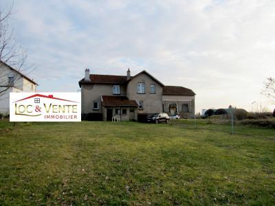 Vue: Beau jardin de 11 ares 55, Maison � vendre de 7 pi�ce(s) sur 155 m� env.