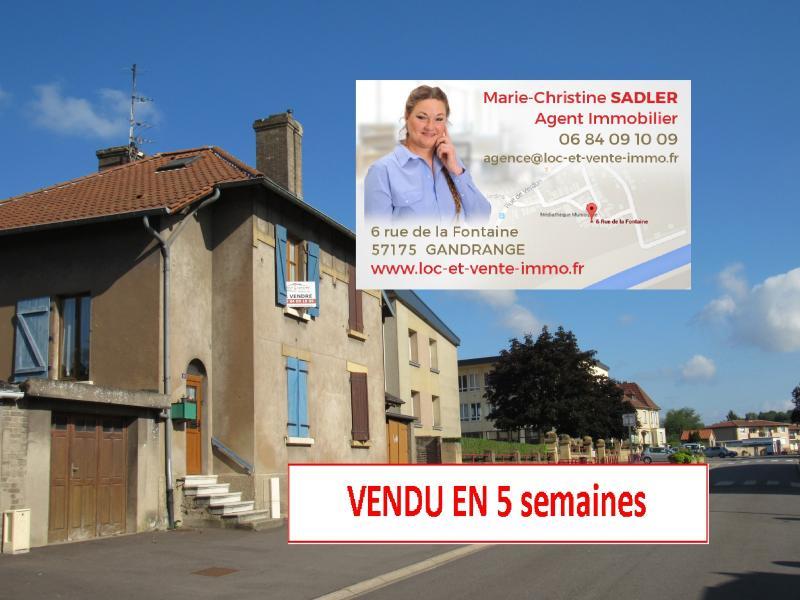 Vente GANDRANGE, Maison 70 m² - 2 chambres - Terrasse - jardin - garage