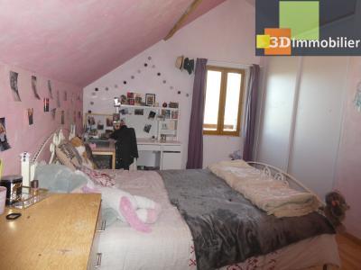 Chaussin (39 - Jura) à Vendre maison sur deux niveaux, 4 chambres, terrain de 600 m²., CHAMBRE 3- 13 M²