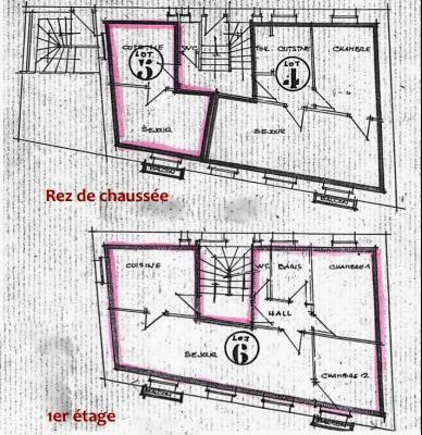 SAINT-CLAUDE (39-JURA), A VENDRE MAISON DE VILLE DE 120 m2 PROCHE CENTRE VILLE, VUE BALCON
