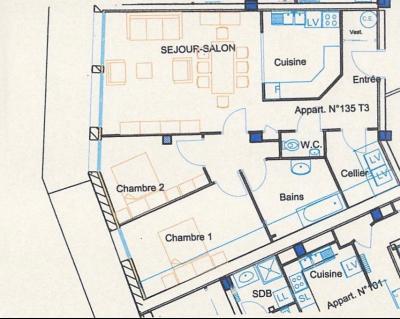 SAINT-LUPICIN (39-JURA), A VENDRE APPARTEMENT T3 DE 82 M2 EN REZ DE JARDIN., PLAN