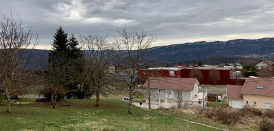 PRATZ (39170), A VENDRE TERRAIN CONSTRUCTIBLE 878 m2 VUE MONTS-JURA,