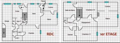 SECTEUR CLAIRVAUX LES LACS (39-JURA), A VENDRE MAISON DE 230 m2 SUR TERRAIN DE 396 m2, PLANS
