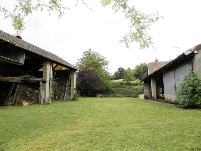 Vente proche POLIGNY (39800), maison familiale en pierre, 2 logements, terrain 1880 m², VUE TERRAIN