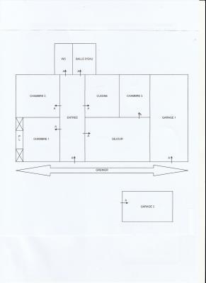 Vente proche LONS LE SAUNIER et LOUHANS (71), maison plain-pied 74.70 m², terrain env. 3500 m²,