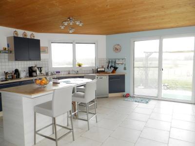 Secteur plaine JURASSIENNE (39), vends maison plain-pied 190 m² env., terrain 13580 m², PIECE DE VIE 66 m²