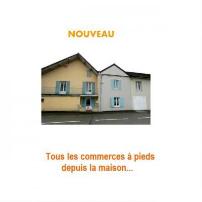 BLETTERANS (39) centre-ville, à vendre maison de ville 95 m², trois chambres, garage.,