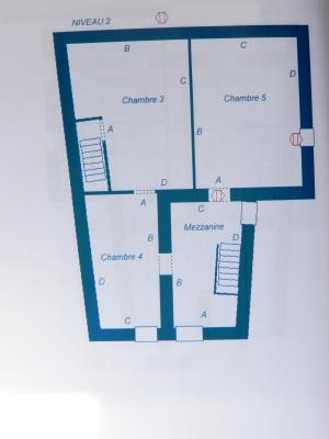 Vente MONTAIGU (39570), maison de village en pierre 127 m², jardin non attenant 522 m², PLAN 2