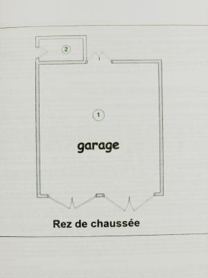 Vente LOMBARD (39230), terrain constructible 677 m² avec garage double en pierre, Croquis garage 38 m²