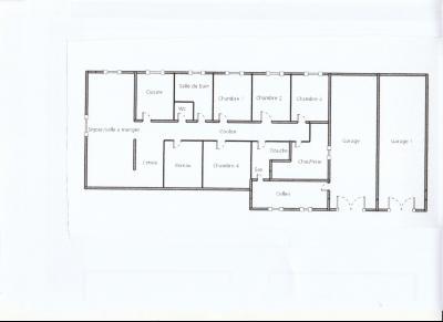 BELLEVESVRE (71), à vendre maison plain-pied 136 m², cinq chambres, deux garages, terrain 14800 m²., PLAN