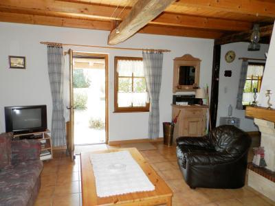BELLEVESVRE (71270), à vendre fermette rénovée 78 m², deux chambres, terrain arboré 2178 m²., SALON 21.50 m²