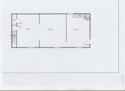 LONS LE SAUNIER nord (39), à vendre maison de village en pierre 152 m², terrain 297 m²., PLAN REZ DE CHAUSSEE