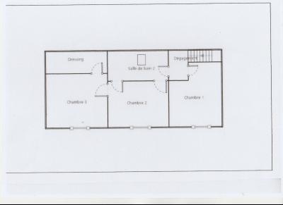 LONS LE SAUNIER nord (39), à vendre maison de village en pierre 152 m², terrain 297 m²., PLAN ETAGE