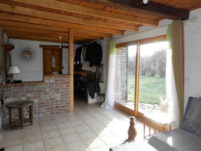 SAINT GERMAIN DU BOIS (71), à vendre ferme rénovée 111 m², terrain 4781 m², sans voisinage., SALON 24.90 m²