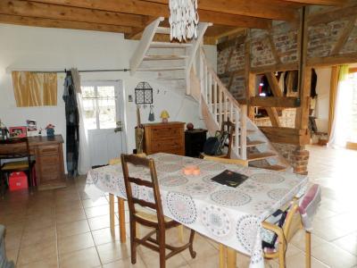 SAINT GERMAIN DU BOIS (71), à vendre ferme rénovée 111 m², terrain 4781 m², sans voisinage., PIECE DE VIE 37.80 m²