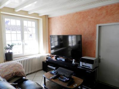 Proche BLETTERANS (39), à vendre maison de village 116 m², trois chambres, terrain 297 m²., SALON SEJOUR 24.50 m²