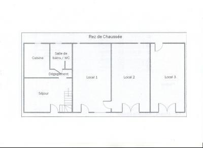 LONS LE SAUNIER (Nord), maison en pierre à rénover, terrain environ 2300 m²., PLAN REZ DE CHAUSSEE