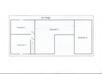 LONS LE SAUNIER (Nord), maison en pierre à rénover, terrain environ 2300 m²., PLAN ETAGE
