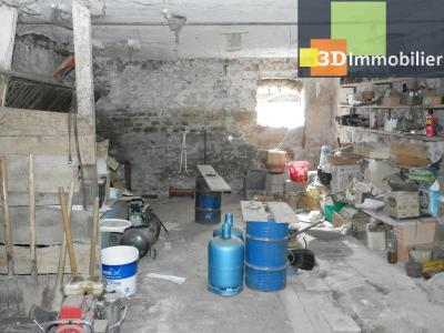 LONS LE SAUNIER nord (39), à vendre maison en pierre à rénover 79 m², dépendances, terrain 586 m², DEPENDANCES