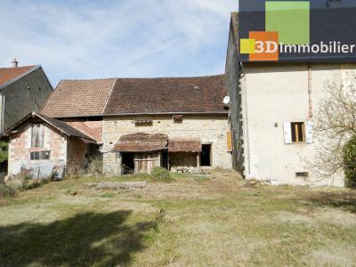 LONS LE SAUNIER nord (39), à vendre maison en pierre à rénover 79 m², dépendances, terrain 586 m², MAISON A VENDRE 79 m²