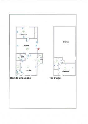 LONS LE SAUNIER nord (39), à vendre maison en pierre à rénover 79 m², dépendances, terrain 586 m², PLAN